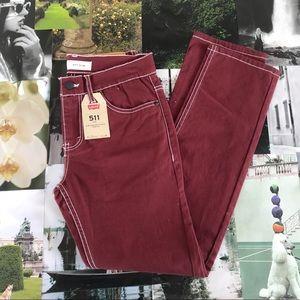 Levi's 511 Maroon Skinny Jeans